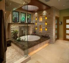 Asian Bathroom Design Connects People With Nature Natural Materials And Simple Functional Ideas Are Main Elements Of Creating Beautiful