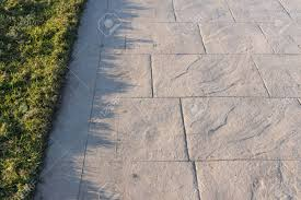 Stamped Concrete Pavement Slate Stone Pattern Decorative Appearance Colors And Textures Of Paving