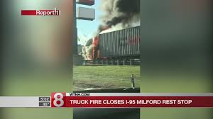 Truck Goes Up In Flames On I-95 In Milford - YouTube 2 Ctortrailers Dump Truck 6 Cars Crash On I95 Shutting Down Tctortrailer Jackknifes On Brings Traffic To Stop Wjar Data Suggests Free Wifi Charging Stations Help Drive Rest Stop Choices Flying J Truck In Va Mm 104 Youtube Truckdriverworldwide Stops A Little Tour Of The Petro Kenly 95 Off Exit 107 Inrstate South Johnston County Aaroads North Carolina Virginia Parking Study Traffic Alert All Lanes Back Open After Crash Goes Up Flames Milford Nc Adventures Trucking Pinterest