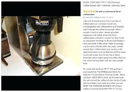 Commercial Bunn Coffee Maker Best With A Thermal Carafe For Sale