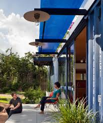 100 Shipping Container Guest House Home With A Green Roof By Poteet Architects