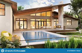 100 Home Design Interior And Exterior Of A Modern House With A Pool Editorial