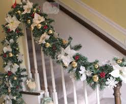 Banister Christmas Garland Christmas Decorating Ideas For Porch Railings Rainforest Islands Christmas Garlands With Lights For Stairs Happy Holidays Banister Garland Staircase Idea Via The Diy Village Decorations Beautiful Using Red And Decor You Adore Mantels Vignettesa Quick Way To Add 25 Unique Garland Stairs On Pinterest Holiday Baby Nursery Inspiring The Stockings Were Hung Part Staircase 10 Best Ideas Design My Cozy Home Tour Kelly Elko