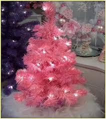 Upside Down Xmas Tree Pink Lights