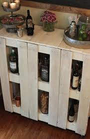 A Rolling Bar Cart Made From Pallet