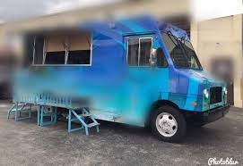 Blue 1996 GMC Food Truck With Custom Step-Up Platform For Sale In ...