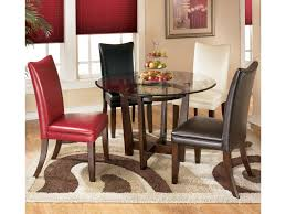 Dining 5 Piece Round Dining Table Set With 4 Different Color Upholstered  Side Chairs By Signature Design By Ashley At Crowley Furniture & Mattress Ding Studio Room Fniture Coricraft Costway 5 Piece Outdoor Patio Rattan Table Cushioned Chairs Set Fdw Kitchen Marble Rectangular Breakfast Wood And Chair For 2brown Lexton With 18 Leaf By Coaster At Dunk Bright Adler 4 Side 2 Upholstered Step Inside 47 Celebrity Rooms Architectural Digest Country Style 1825 Interiors Modern Contemporary Glass Leaves Value City 30 Black White That Work Their Monochrome Magic Jaxon Grey Round Extension Wwood How To Paint A Home Guides Sf Gate