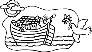 Coloring Book Pages Of Noahs Ark Noah Rainbow Page Clipart Panda Free Images