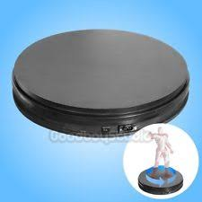 BLACK 35cm 3D 360 50KG Heavy Duty Rotary Rotating Display Stand Turntable