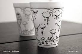 pen and styrofoam cup cool stuff Pinterest