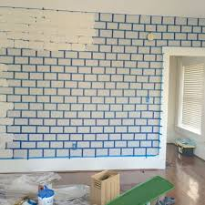 faux brick wall hometalk