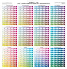 CMYK Color Chart 01