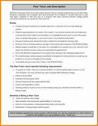 How To Describe Math Skills On Resume Lovely English Tutor Job Description Resumesutor Sample