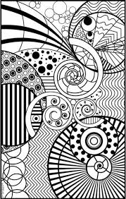 A Coloring Page Full Of Different Sizes Spirals