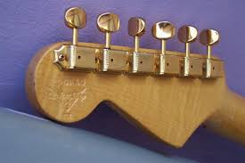 97 Cunetto Stratocaster Headstock Close Up Back With Stamp