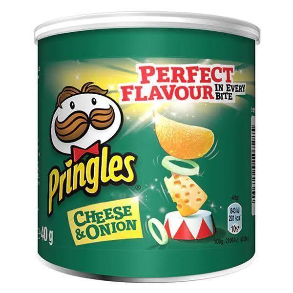 Pringles Potato Chips - Cheese & Onion, 40g