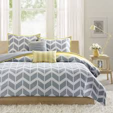 Yellow And Gray Bedding Sets Grey Vintage Bedroom Voondecor Curtain Interior Decoration Sites Design