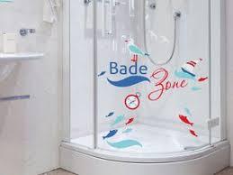 glasdekor fenstersticker set fuer badezimmer spruch badezone