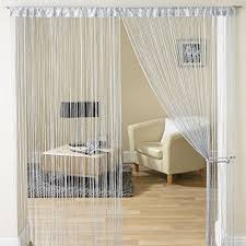 Amazon Uk Living Room Curtains by Jazz Glitter String Curtain Panel Silver Amazon Co Uk Kitchen