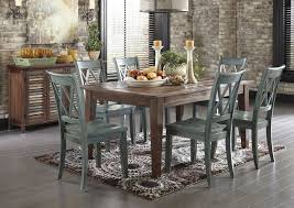 ashley mestler dining table with 6 chairs and sideboard rustic
