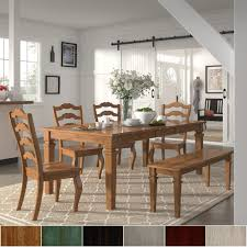 Shop Elena Oak Extendable Rectangular Dining Set With French Ladder ... Antique Set Of 12 French Louis Xv Style Oak Ladder Back Kitchen Six 1940s Ding Chairs Room Chair Metal Oak Ladder Back Chairs Avaceroclub Fniture Classics Solid Wood Wayfair 10 Rush Seat White Painted Country Shabby Chic Cottage In Theodore Alexander Essential Ta Farmstead A 8 Nc152 Bernhardt Woven