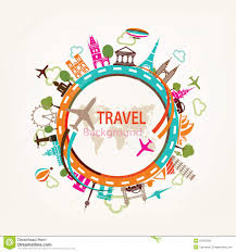 World Travel Landmarks Silhouettes Network Icon