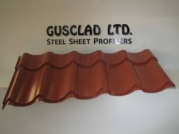 simulated tile metal roofing