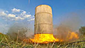 Calcium Carbide Lamp Fuel by Flight On A Barrel Filled With Carbide Crazy Exploders Of Barrels