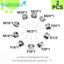 wasourlf 2 pc m22 männlichen gewinde transfer m18 stecker dusche bad küche messing chrom wasserhahn zubehör verbunden schlauch