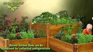 gronomics modular raised garden beds youtube
