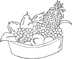 Mixed Fruit In One Bowl Coloring Page