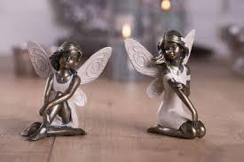 dekoration deko figur elfe mit herz stehend metall vintage