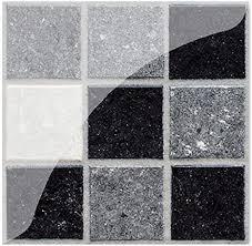 prosperveil 19 x schwarze marmor mosaik wandfliesen aufkleber selbstklebend wasserdicht für küche badezimmer fliesen wandaufkleber vinyl kunst