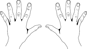 Hand Black And White Open Hands Clipart 3