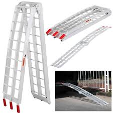 100 Heavy Duty Truck Ramps 75 Aluminum Motorcycle Arched Folding Loading Ramp
