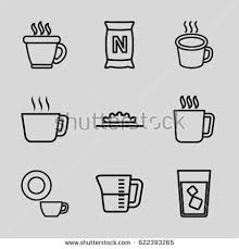 Coffee Icons Set Of 9 Outline Such As Mug
