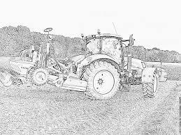 Moissonneuse Batteuse Dessin Aisé Belle Coloriage De Tracteur Claas