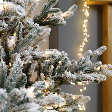 7ft Artificial Christmas Tree by Pre Lit Green Snow Effect Real Feel Pe Imperial Spruce Artificial