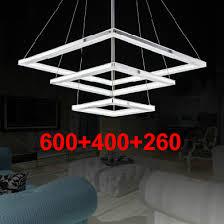 simple ultrathin modern led chandelier lighting acrylic lustre