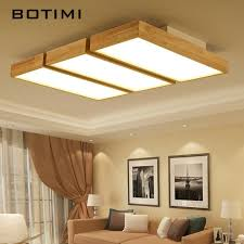 großhandel botimi moderne led deckenleuchten holz quadrat deckenleuchte mit dimmfernbedienung für wohnzimmer esszimmer licht holz schlafzimmer len