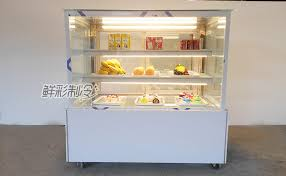 Right Angle Cake Cabinet Model Temperature Fruit Sample Donut Bakery Display Case Non Refrigerated Storage