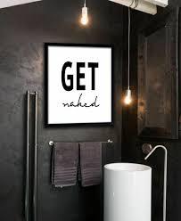 badezimmer deko ideen cool claim wandbild schwarz bad