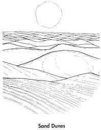 Sand Dune Coloring Pages