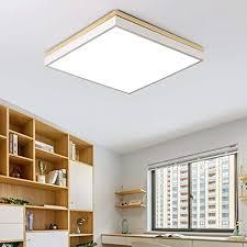 led platz dimmbar deckenleuchte modern minimalismus holz stil deckenle kreativ wohnzimmer schlafzimmer esszimmer studie fernbedienung