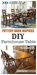 DIY Pottery Barn Inspired Farmhouse Table - The Weathered Fox Pb Inspired Trunk Bedside Table Makeover Girl In The Garage Darby Entryway Bench Pottery Barn Samantha Diy 3d Wall Art This Is Our Bliss Best 25 Barn Inspired Ideas On Pinterest Woman Real Lifethe Of Everyday Kitchen Island By Diy Kitchen Island Coffe Fresh Coffee Home Decoration Clock Noel Sign Knock Off Christmas Mirror Knockoff Project