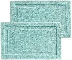 mdesign 2er set badematte rutschfest großer mikrofaser badvorleger für bad oder küche besonders pflegeleichter duschvorleger mint