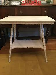 Walmart Larkin Sofa Table by Vintage 2 Tier Spindle Leg Table Chalk Painted U0026 Distressed