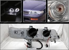 94 97 honda accord chrome halo projector led headlights