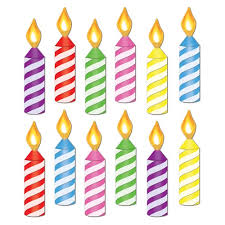 Birthday Candle Cutouts