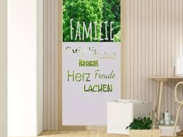 grazdesign milchglas folie sichtschutz streifen für glastür oder duschwände fensterfolie motiv familie wörter für wohnzimmer 80x80cm breite x